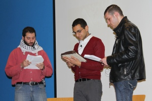 From left: Mohammed Ghalayini, Ayman Qwaider and Mahmoud Hammad