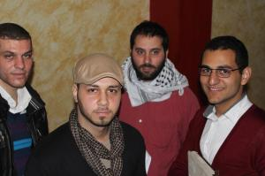 From left:  Mahmoud Hammad, Alaa Shoublaq, Mohammed Ghalayini and Ayman Qwaider